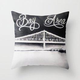 California Bay Bridge Throw Pillow