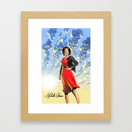 Michelle Obama Framed Art Print