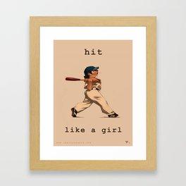 Hit Like a Girl Framed Art Print