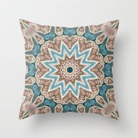 britney spears Throw Pillows featuring Britney Spears by Celebrity Mandala