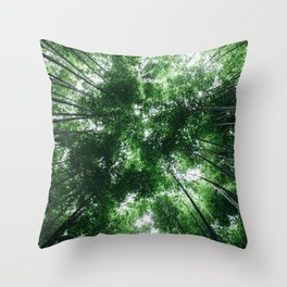 Bamboo Forest, Kyoto, Japan Throw Pillow