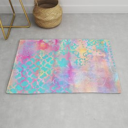 Colorful Abstract Patterns Rug