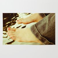 feet Area & Throw Rugs featuring Feet by Upperleft Studios