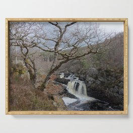 Rogie Falls, Near Inverness, Scotland - Scottish Landscape Serving Tray