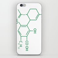 cannabis iPhone & iPod Skins featuring Cannabis Chemistry: CBD by WeedPornDaily