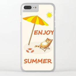 enjoy sunny summer Clear iPhone Case