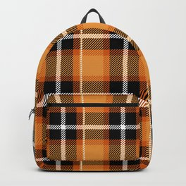 Orange + Black Plaid Backpack