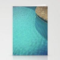 aqua Stationery Cards featuring Aqua by Cassia Beck