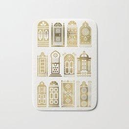 Moroccan Doors – Gold Palette Bath Mat