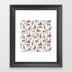 Christmas Reindeer.  Framed Art Print