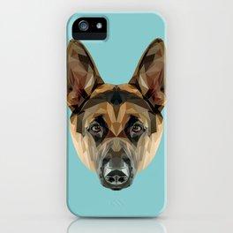German Shepherd // Blue iPhone Case