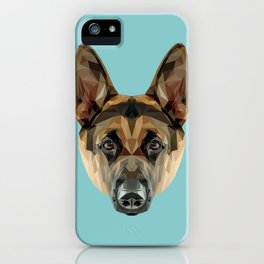 German Shepherd // Blue iPhone Case