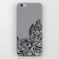 transformers iPhone & iPod Skins featuring Transformers: Megatron by Skullmuffins
