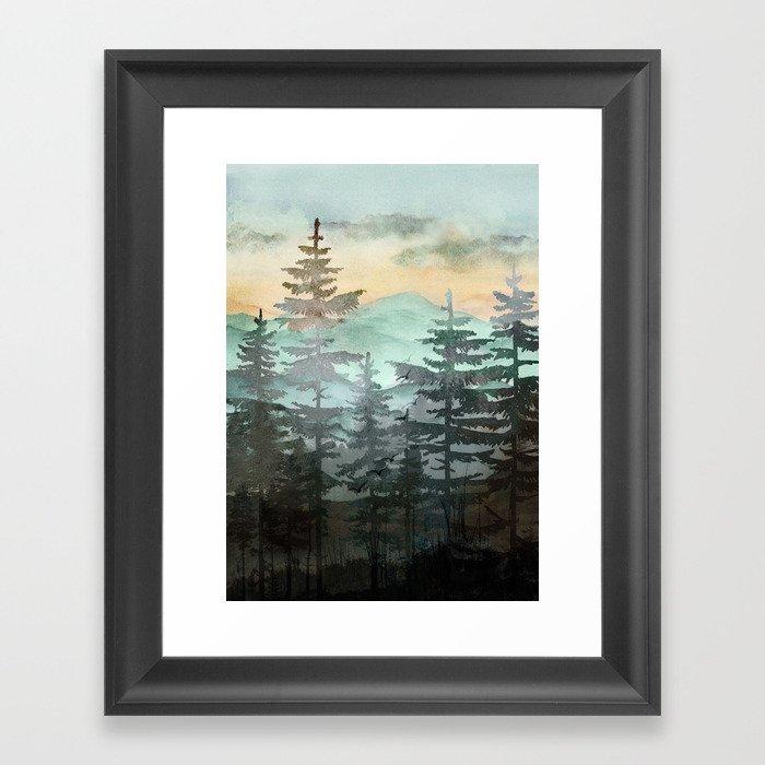 Pine Trees Gerahmter Kunstdruck