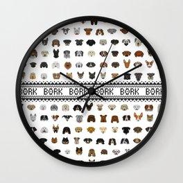 Pixel Pups Wall Clock