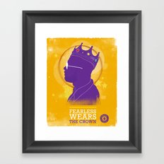 FEARLESS: Wears The Crown Framed Art Print
