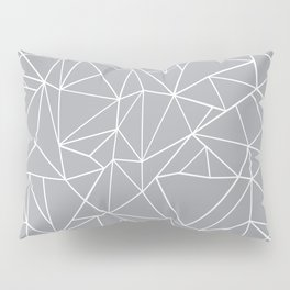 Abstraction Outline Grey Pillow Sham