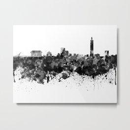 Taipei skyline in black watercolor Metal Print