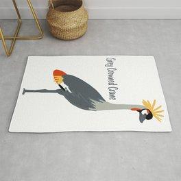 Grey Crowned Crane - Cartoon Rug