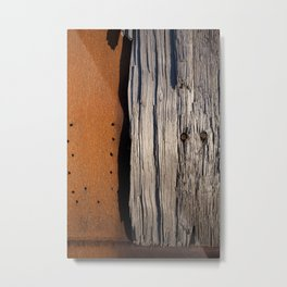 Rust & Old Wood Metal Print