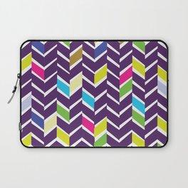 purple chevrons Laptop Sleeve