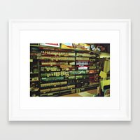 cigarettes Framed Art Prints featuring cigarettes by alannahagerman