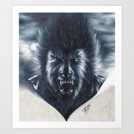 A Midnight Encounter Art Print
