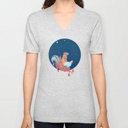 space chicken Unisex V-Neck