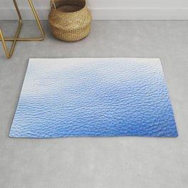 Blue Leather Rug