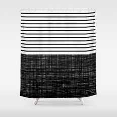 platno (black stripes) Shower Curtain