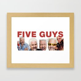 FIVE GUYS: BURGERS AND DIVES Framed Art Print