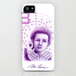 Marie Curie, Breaker of Gender Stereotype in Science iPhone Case