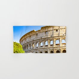 Vita Bellissima (Beautiful Life): Colosseum in Rome, Italy Hand & Bath Towel
