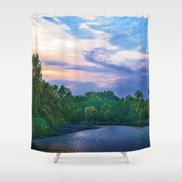 Little Racoon River Shower Curtain