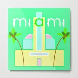 Miami Deco Metal Print