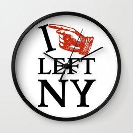 I Left NY Wall Clock