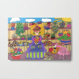 Maisie's Secret Garden Metal Print
