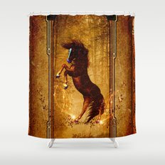 Awesome wild horse Shower Curtain