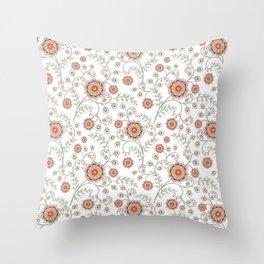 Cartoon flowers. Throw Pillow