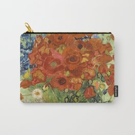"""Vincent van Gogh """"Still Life, Vase with Daisies, and Poppies"""" Carry-All Pouch"""