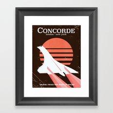 Concorde vintage travel poster Framed Art Print
