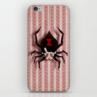 black widow iPhone & iPod Skins featuring Widow by willjames