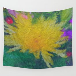 Yellow Flower impressionist style Wall Tapestry