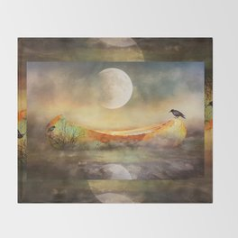 By the Light of the Crow Moon Throw Blanket