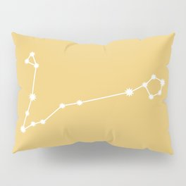 Pisces Zodiac Constellation - Golden Yellow Pillow Sham