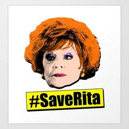 Save Rita Coronation Street Art Print
