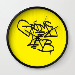 Grime Lab Drips Wall Clock