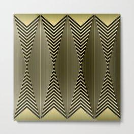 Golden Art Deco Arrowheads Metal Print