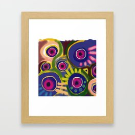The flowers have eyes too Framed Art Print
