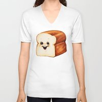 bread V-neck T-shirts featuring Bread by Kelly Gilleran